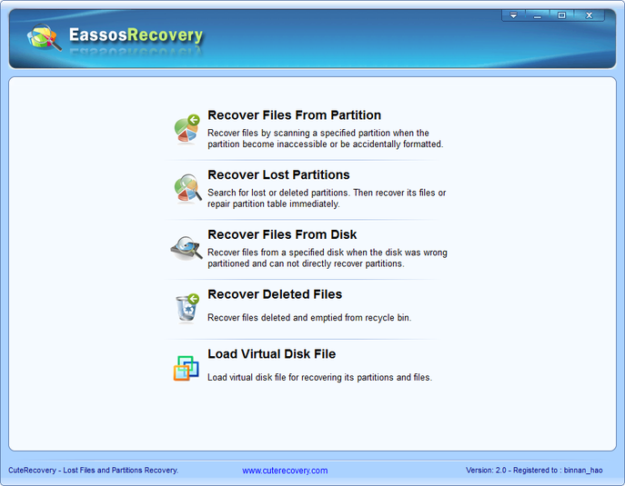 Screenshot 1 of Eassos Recovery Free