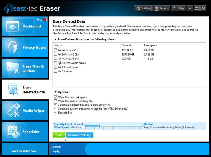 Screenshot 5 of east-tec Eraser