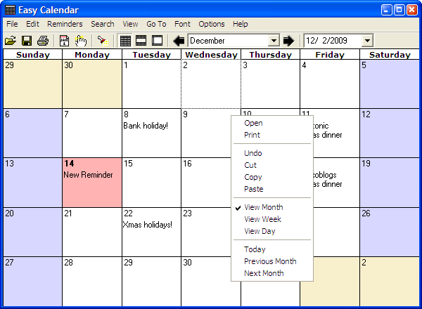 download easy calendar free networkice com