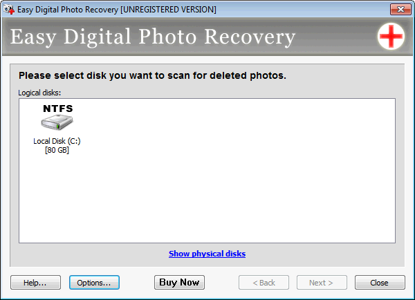 Screenshot 1 of Easy Digital Photo Recovery
