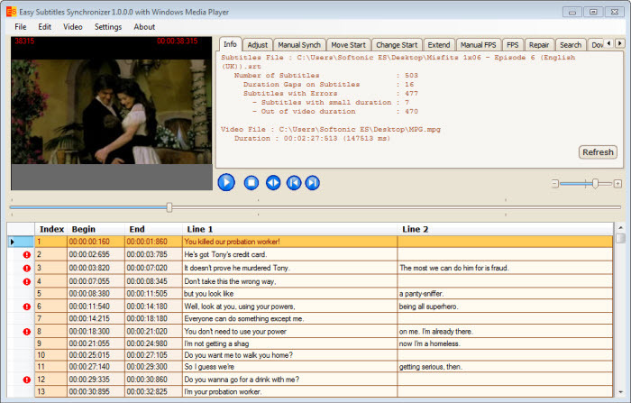 Screenshot 4 of Easy Subtitles Synchronizer