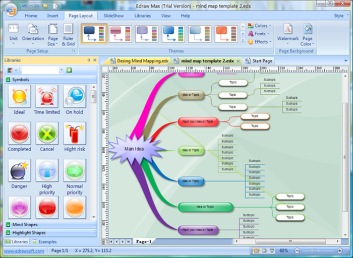 Outstanding Excel Mind Map Template Photo Professional Resume