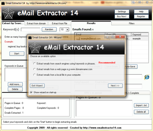 Download Email Extractor free — NetworkIce com