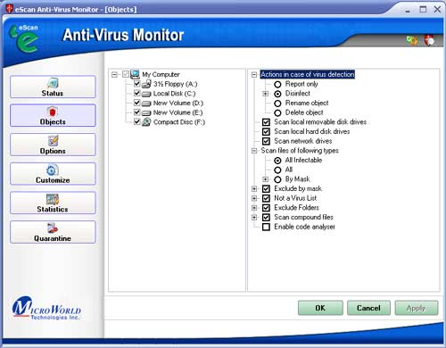 Screenshot 1 of eScan Anti-virus