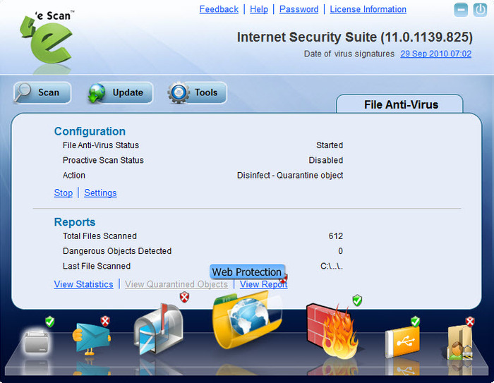 Screenshot 2 of eScan Internet Security Suite