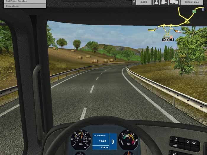 Euro truck simulator 2 1. 28 gameplay with double trailer & 54 dlc.