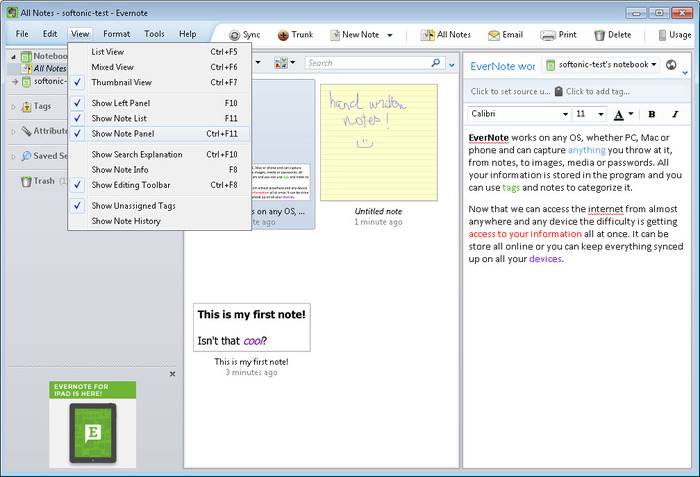 Screenshot 3 of EverNote