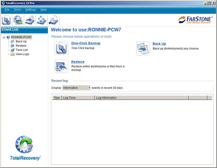 Screenshot 7 of FarStone TotalRecovery Pro