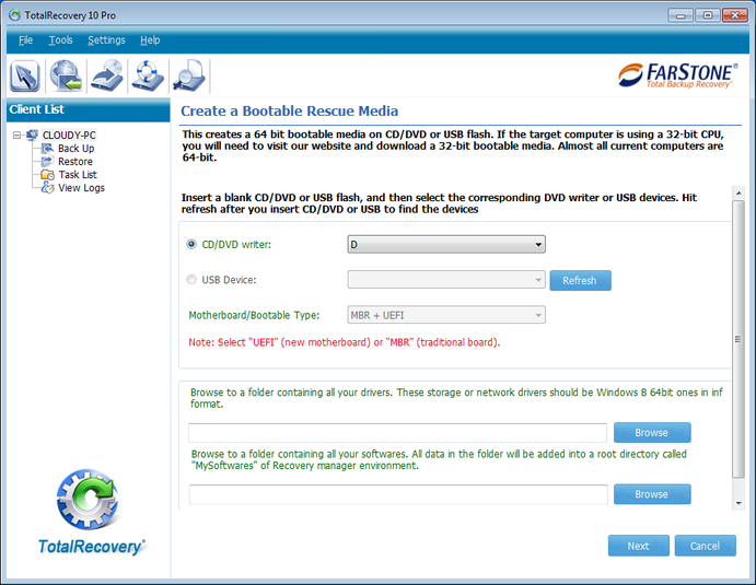 Screenshot 4 of FarStone TotalRecovery Pro