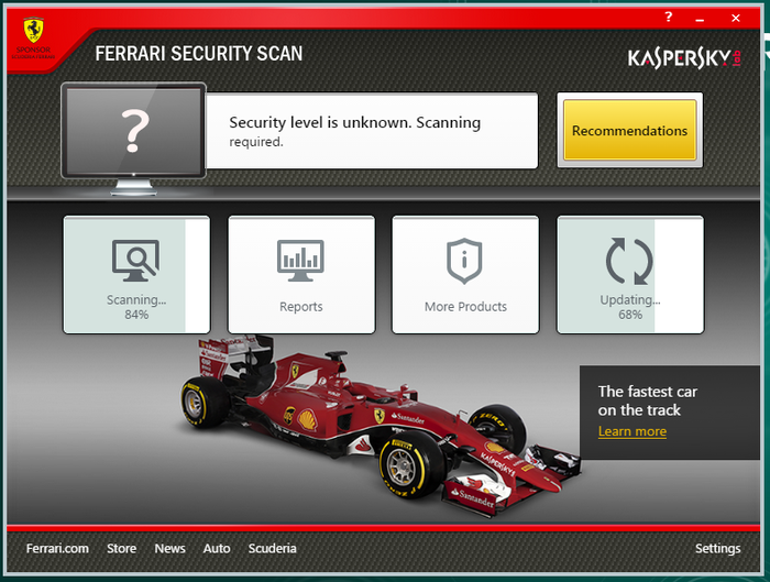 Screenshot 2 of Ferrari Security Scan