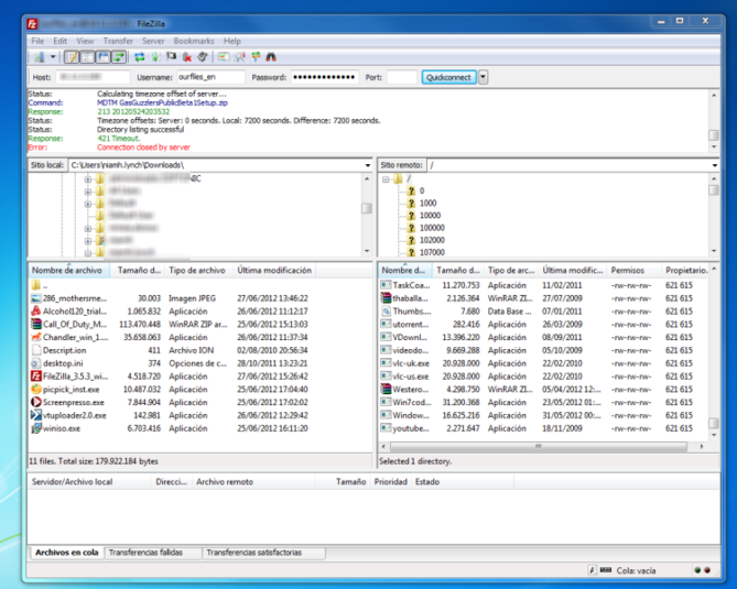Screenshot 3 of FileZilla