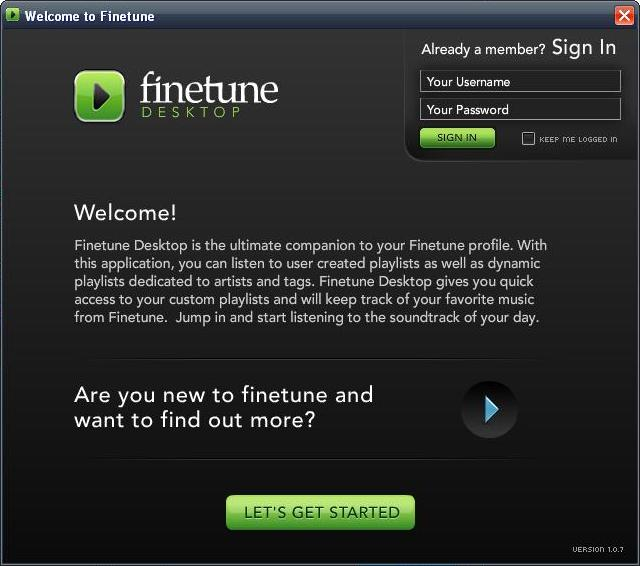 Screenshot 5 of Finetune Desktop