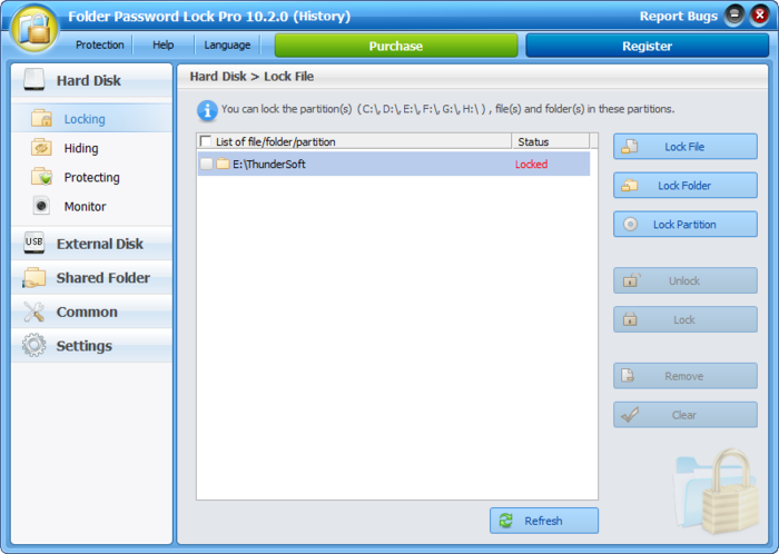Screenshot 3 of Folder Password Lock Pro