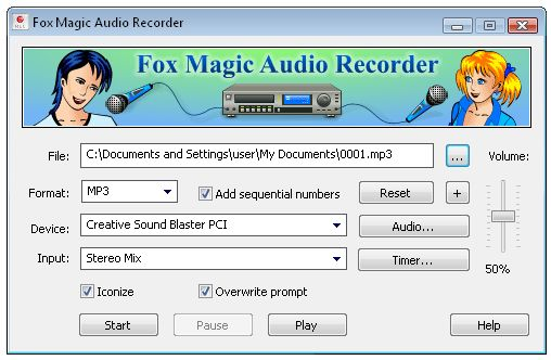 Fox magic audio recorder download for free.