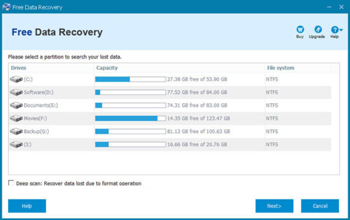 Screenshot 2 of Free Data Recovery
