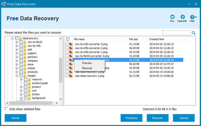 Screenshot 4 of Free Data Recovery