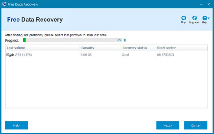 Screenshot 1 of Free Data Recovery