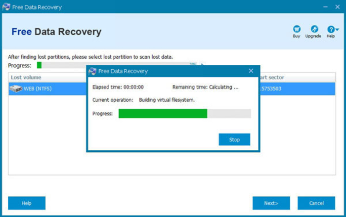 Screenshot 6 of Free Data Recovery