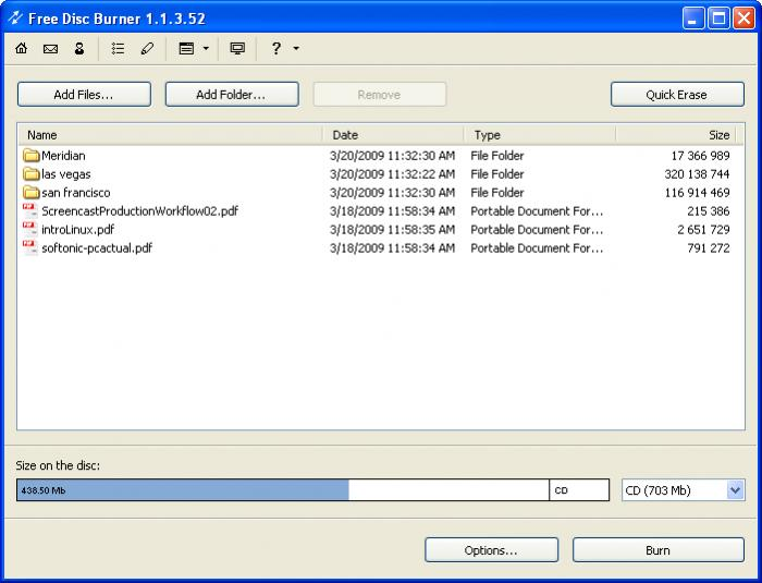 Screenshot 1 of Free Disc Burner