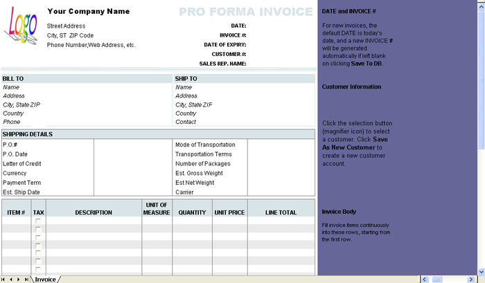 download free proforma invoice template free networkice com