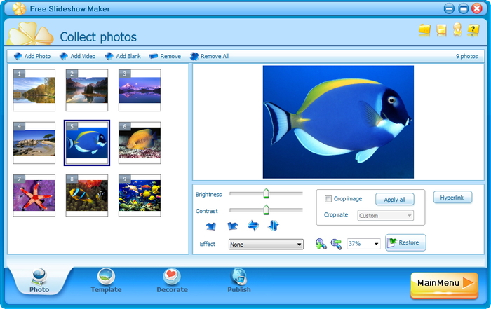 screenshot 1 of free slideshow maker