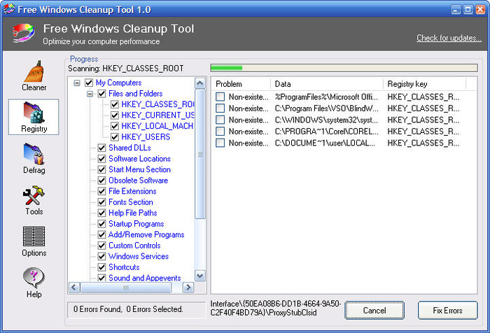 Screenshot 5 of Free Windows Cleanup Tool