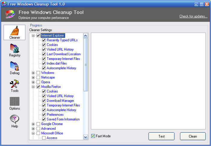 Screenshot 2 of Free Windows Cleanup Tool