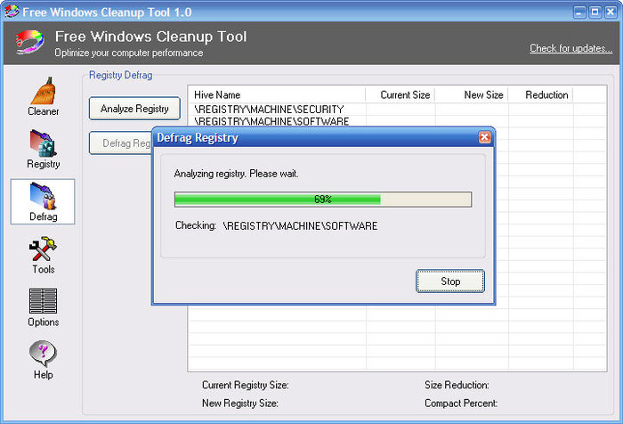 Screenshot 6 of Free Windows Cleanup Tool