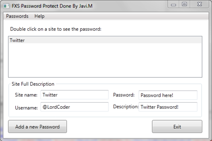 Screenshot 3 of FXS Password Protect