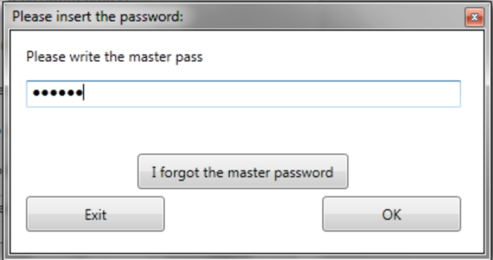Screenshot 1 of FXS Password Protect