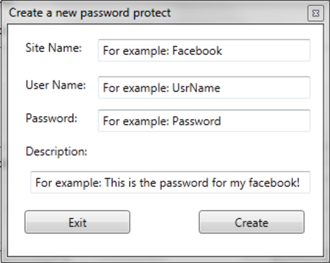Screenshot 2 of FXS Password Protect