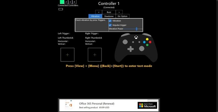 Screenshot 2 of Game Controller Tester
