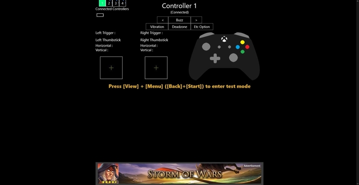 Screenshot 3 of Game Controller Tester