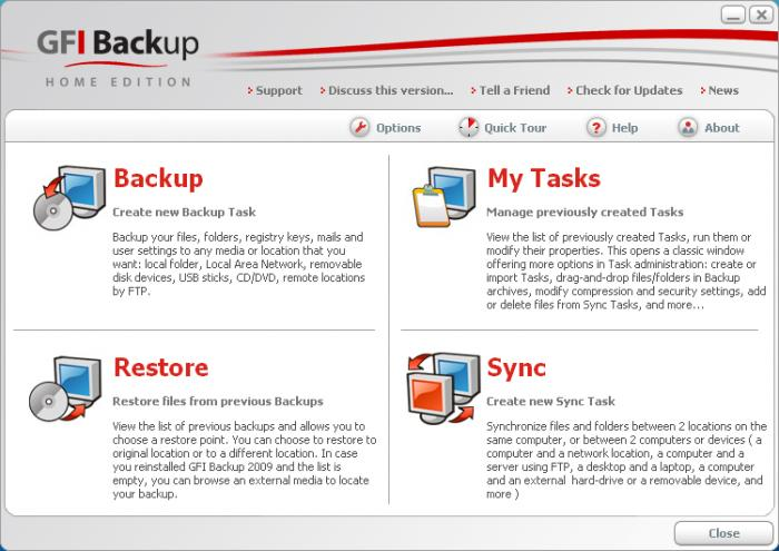 Screenshot 1 of GFI Backup