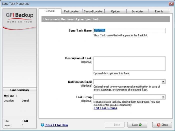 Screenshot 5 of GFI Backup
