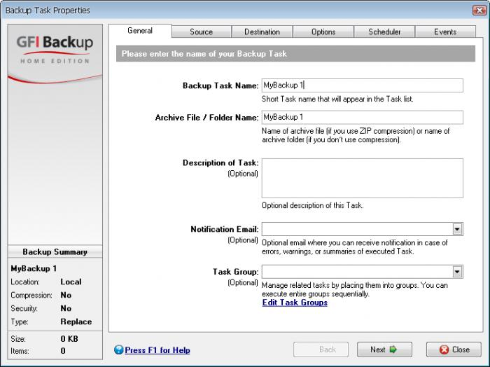 Screenshot 2 of GFI Backup