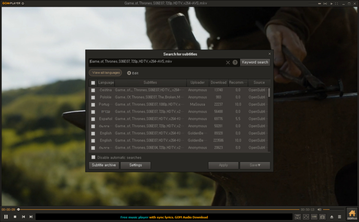 Screenshot 5 of GOM Player