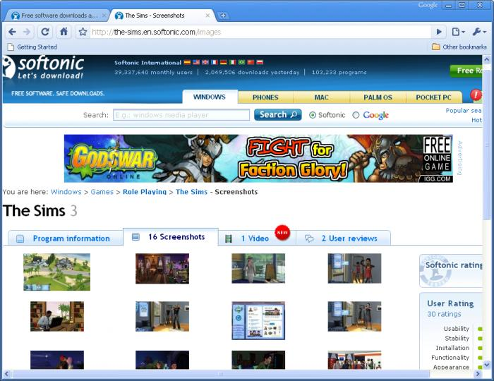 Screenshot 3 of Google Chrome