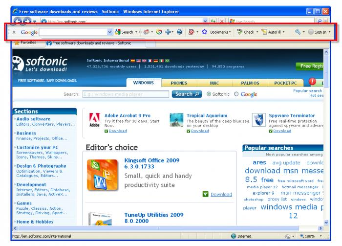 Screenshot 4 of Google Toolbar IE