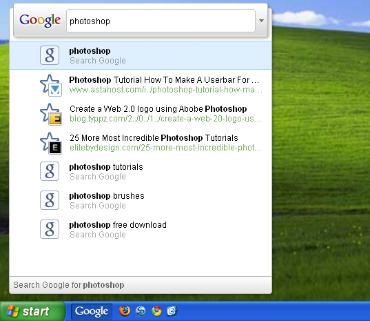 Screenshot 1 of Google Toolbar IE