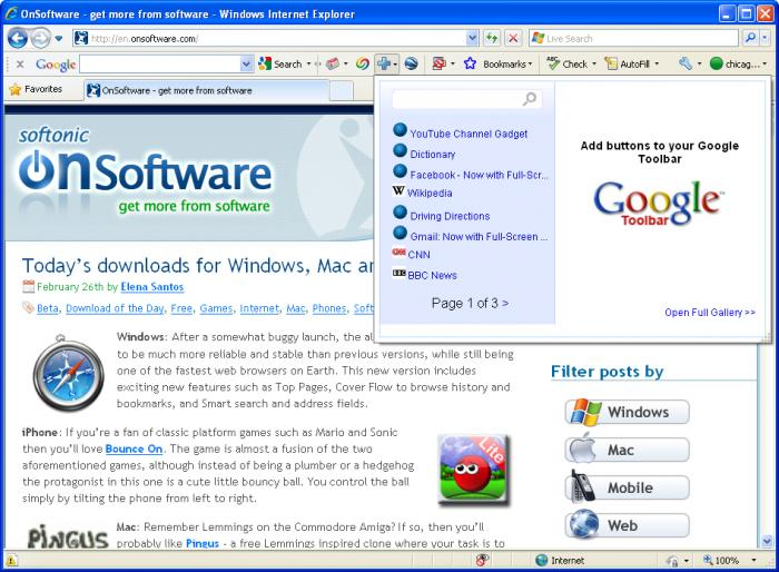 Screenshot 9 of Google Toolbar IE
