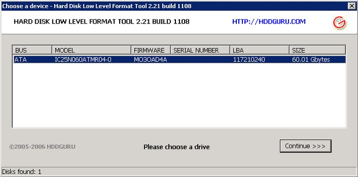 Screenshot 1 of HDD Low Level Format Tool
