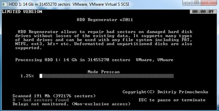 Screenshot 3 of HDD Regenerator