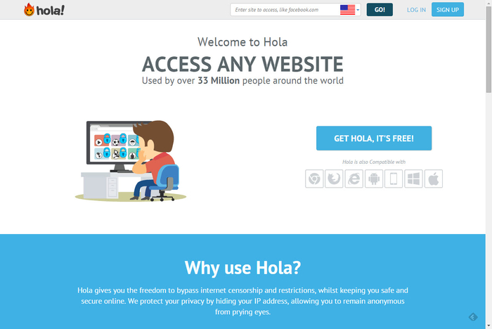 Screenshot 2 of Hola Better Internet