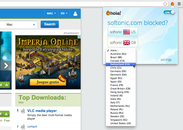 Screenshot 3 of Hola Unlimited Free VPN