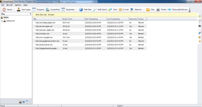 Screenshot 10 of HomeGuard Activity Monitor