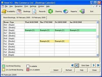 Screenshot 1 Of Hotel Booking System