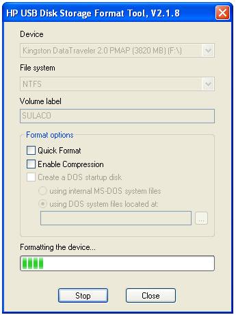 Screenshot 3 of HP USB Disk Storage Format Tool