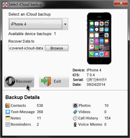 Download iCloud Data Recovery free — NetworkIce com