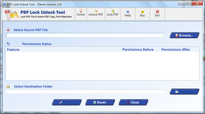 Screenshot 1 of PDF Unlock Tool